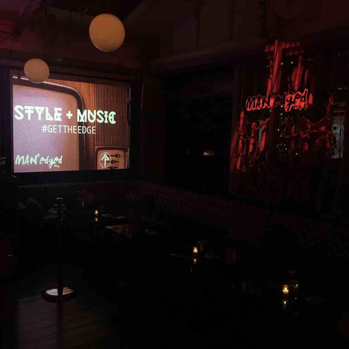 MAN'edged Magazine Style + Music Event display