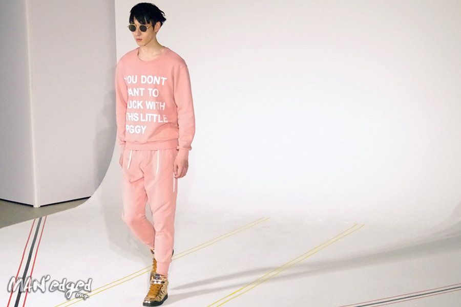 Printed sweater at Woodhouse's men's day collection.