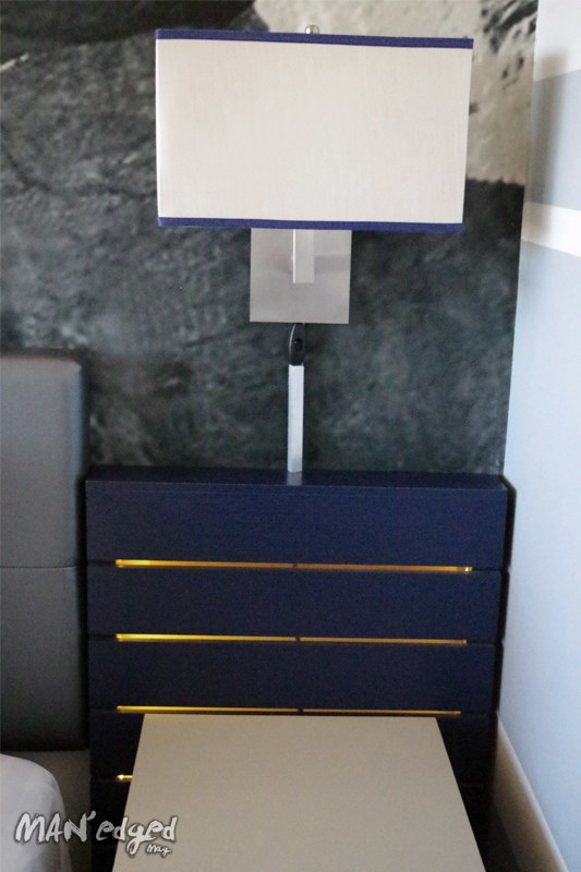 a design detail with illuminating night stands.