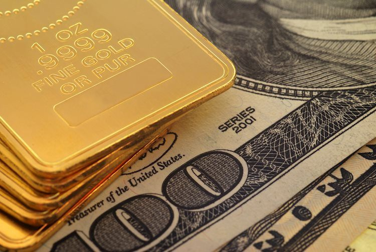 XAU / USD permanece sin cambios por encima de $ 1,750 en USD boomerang