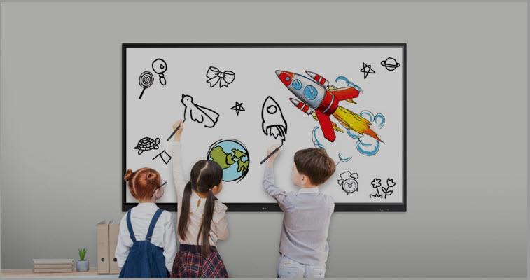 Nuevas pantallas interactivas de LG diseñadas para una máxima versatilidad en las aulas posteriores a una pandemia