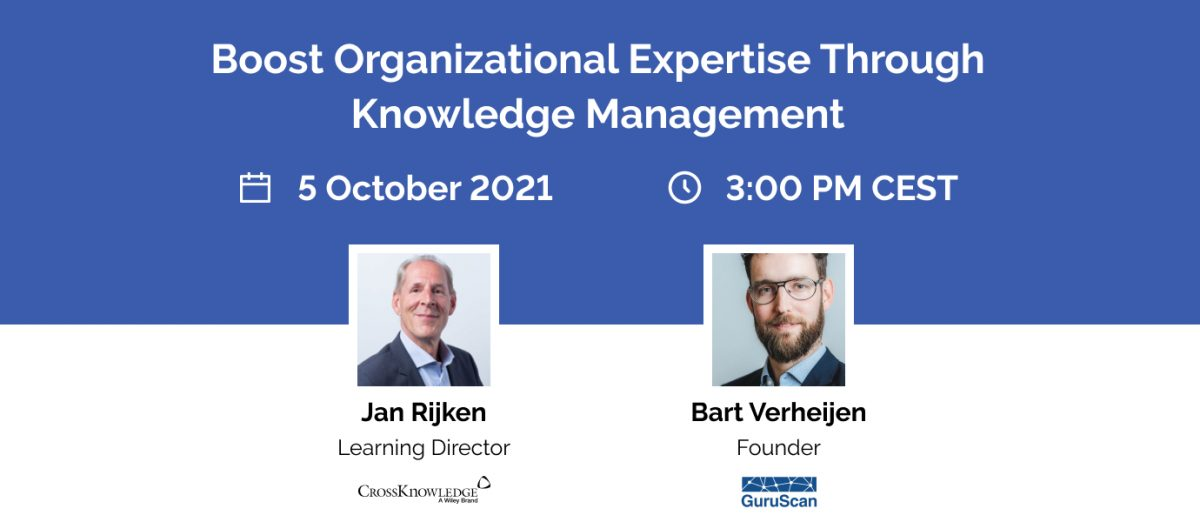 """CrossKnowledge y GuruScan se unen para un seminario web: """"Impulsar la experiencia organizacional a través de la gestión del conocimiento"""""""
