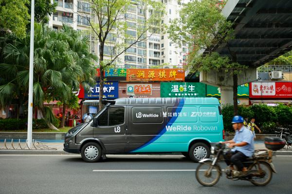 WeRide chino presenta Robovan, su primera camioneta eléctrica y autónoma