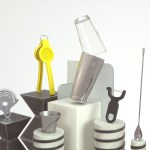 Picture of essential barware tools on stand