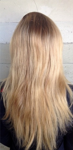 hair color makeover blonde to brunette before and after