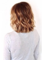 short dark blonde ombre