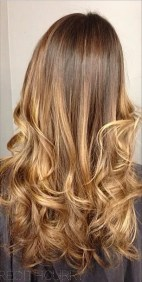 natural brunette with highlights