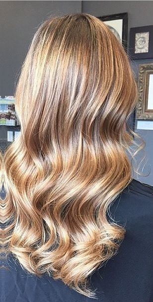 honey brunette balayage highlights