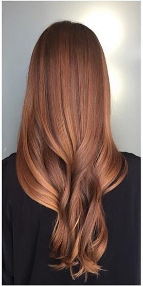sunkissed auburn hair color