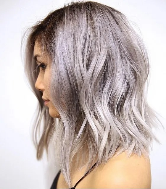 gray and silver hair color ideas