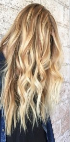 honey blonde and caramel toned balayage highlights