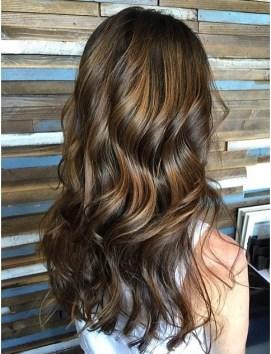 brunette highlights balayage