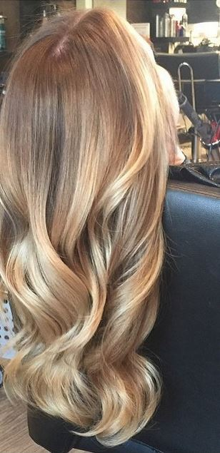 gold toned honey highlights
