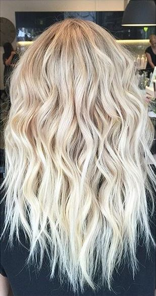blonde highlights and wavy hair