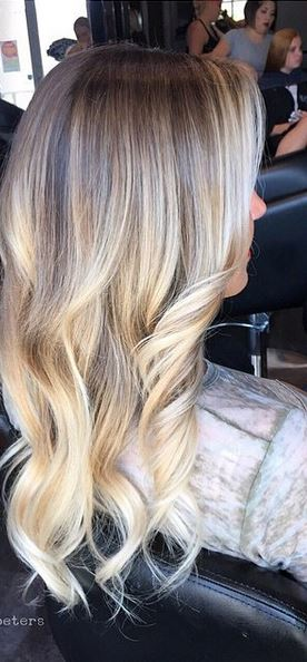 buttery blonde highlights - blended perfectly with clients natural roots