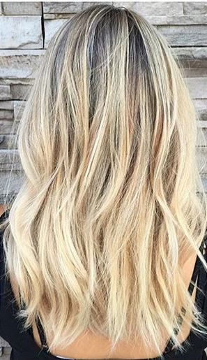 blonde hair color - before and after blog photos