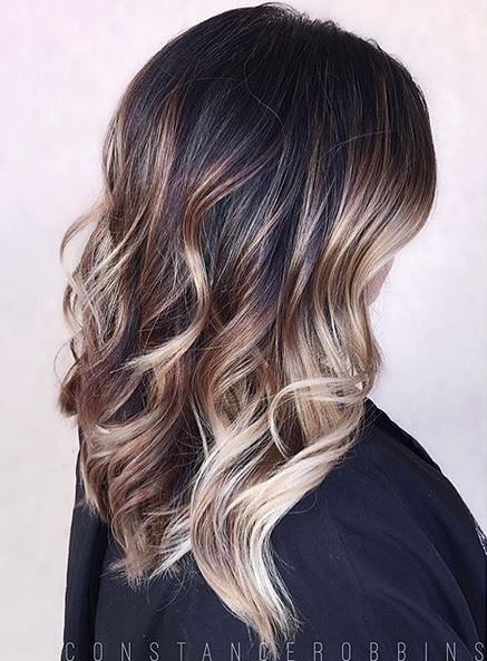 brunette balayage ombre