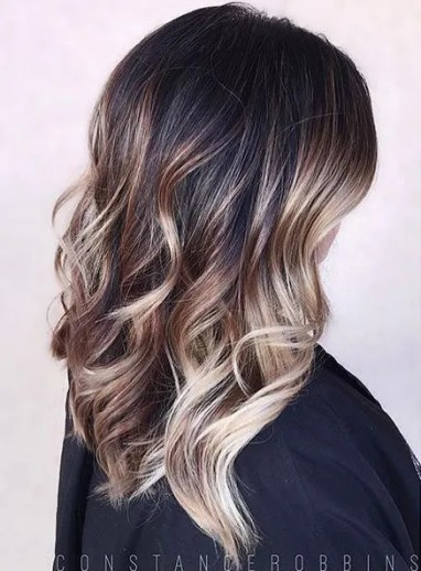 brunette balayage ombre