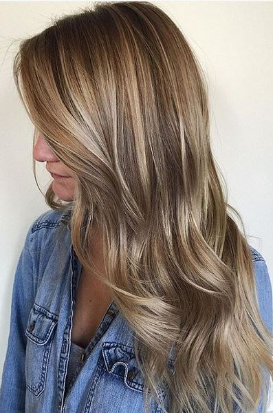 beige balayage highlights - natural and beautiful hair color idea