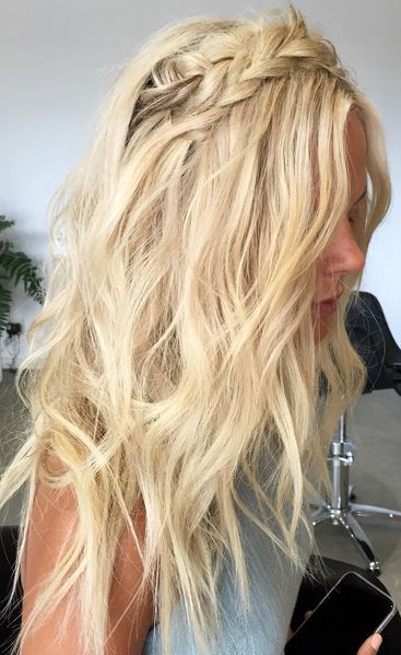 hairstyle inspiration - textured waves and braids