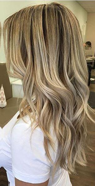 mid blonde beige highlights
