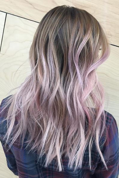 hair color to try -lilac ombre