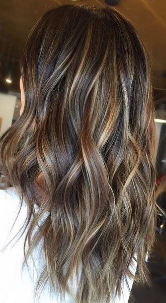 perfect brunette fall hair color idea