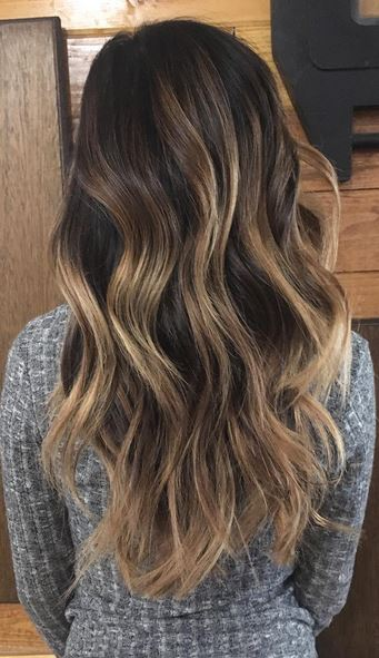 brunette-with-balayage-highlights