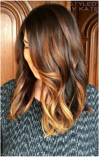 brunette with highlights hair color ideas  Mane Interest