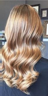 honey brunette balayage highlights