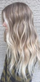 blonde hair color with ashy tones