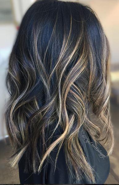 perfect brunette balayage mane