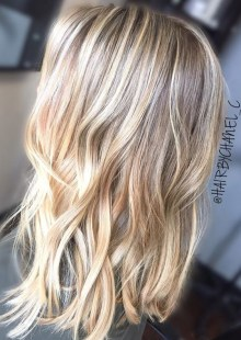 beige blonde balayage highlights