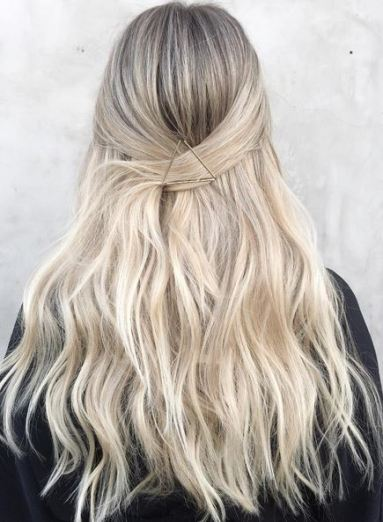 love this blonde highlights and hairstyle