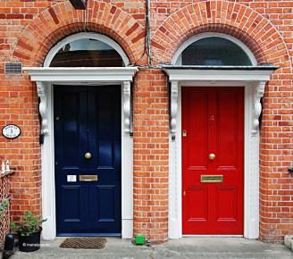Típiques cases a Dublín, Irlanda