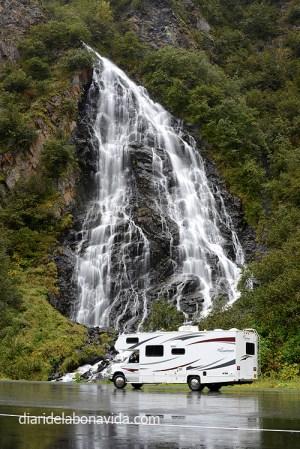 Parem a la cascada Horsetail