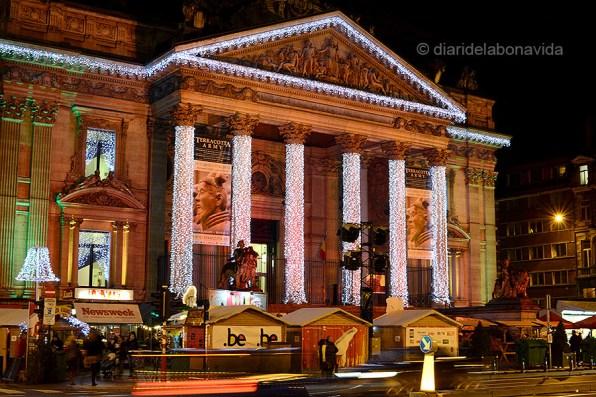 Edifici de la Bourse amb decoració nadalenca