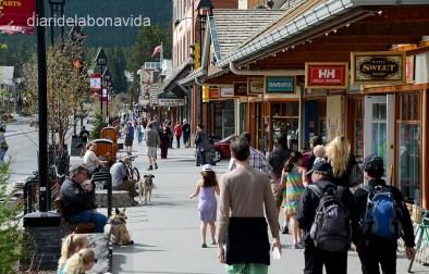 Dins els Parcs trobem ciutats com la de Banff, amb molta vida