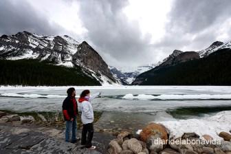 El Lake Louise està pràcticament congelat