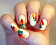 festive thanksgiving nail design