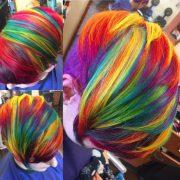 colorful rainbow hair - original