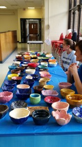 Ceramic bowls made by Foran students help benefit the Beth El Shelter