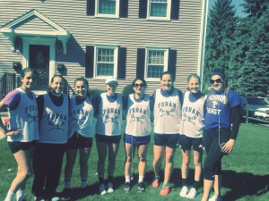 Foran Girls Lax came out to support the Maren Sanchez 5k fun run