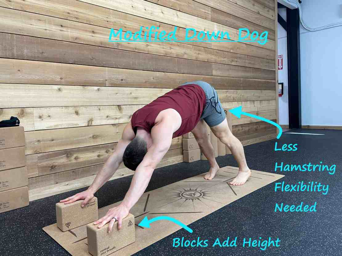 How to Get Rid of Tech Neck with Yoga - Modified Downdog