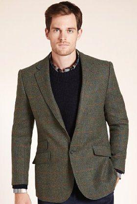 M&S   Sartorial Pure Wool check Jacket   £129