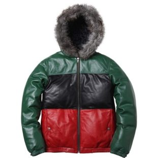 Supreme | Leather Down Jacket | Front