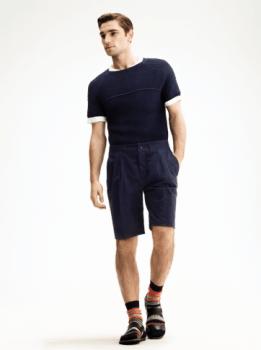 H&M Summer 2013 Collection Lookbook - Navy T-shirt and Shorts