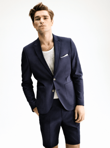 H&M Summer 2013 Collection Lookbook - Navy Blazer and Trousers
