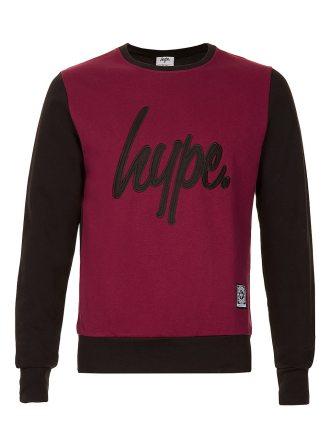 Hype-Burgundy-Black-Sweater