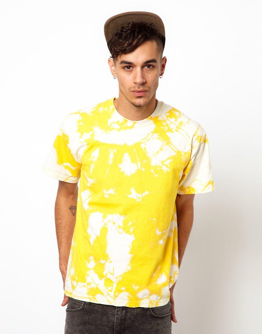 ASOS-Yellow-Tie-Dye-T-Shirt